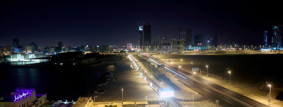 Bahrein in de nacht
